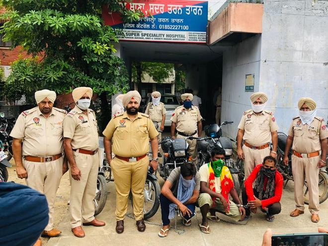 Tarn Taran: Bike lifters' gang busted, 3 held