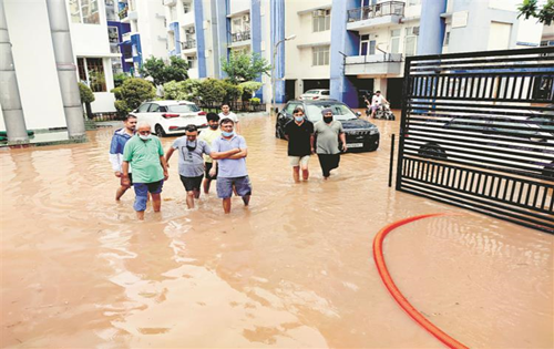 Overnight rain pours misery on tricity