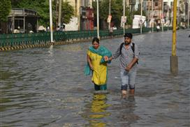 Bathinda roads inundated, parties spar over drainage