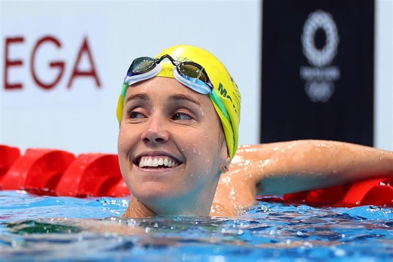Australia's McKeon 1st woman to win 7 medals at single Olympic Games