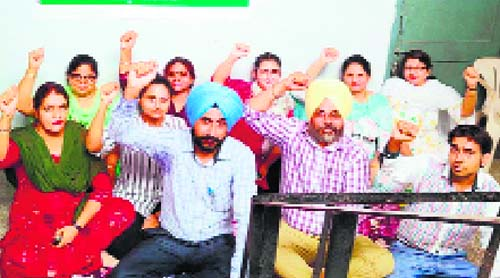 CDPOs protest, beneficiaries at receiving end in Patiala
