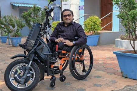 IIT Madras claims to have developed India's first indigenous motorised wheelchair vehicle