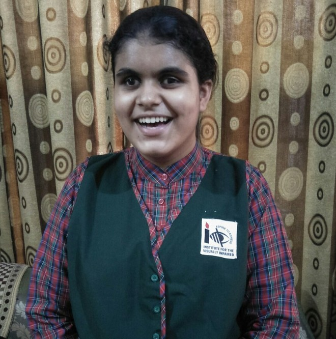 Chandigarh: Visually impaired girl shows the way with 95.4%