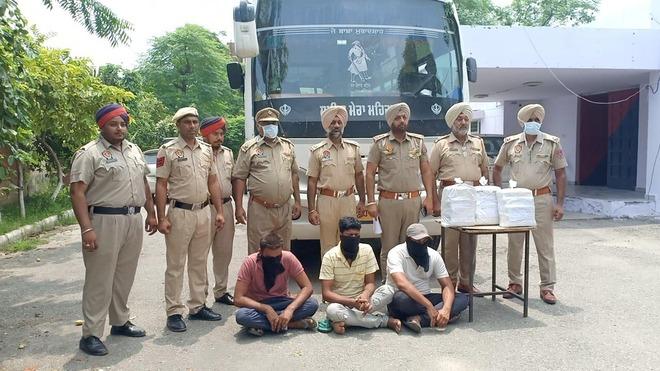 International drug racket busted in Phagwara, 3 held with 15-kg ganja