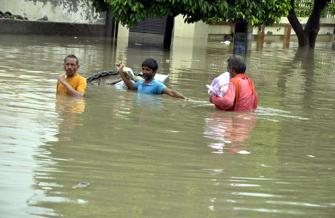 Waterlogging after rain in Bathinda; dengue threat looms