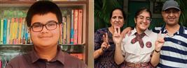 Sanyam, Vanshika tricity stars with 99.8%