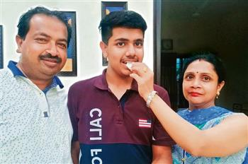 Harshit tops Patiala district with 99.6% marks