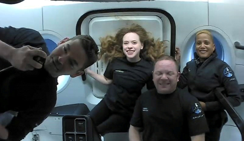 SpaceX capsule with world's first all-civilian crew lands back safely after 3-day space trip
