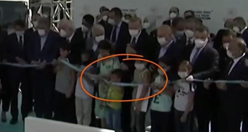 Video: Boy cuts inauguration ribbon before Turkish President at opening ceremony for tunnel - The Tribune