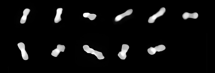 Astronomers capture best images yet of peculiar 'dog-bone' asteroid