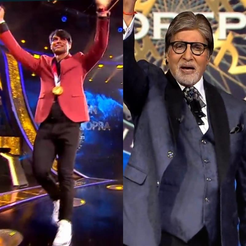 Neeraj Chopra tells Amitabh Bachchan, 'Ye tere baap ka ghar koni... chup chaap khada reh' on KBC 13