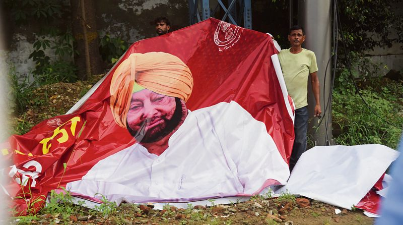 After change of guard, Capt Amarinder's ads removed from Ludhiana