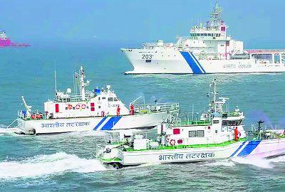 Indian Coast Guard rescues 7 fishermen of distressed boat near Diu