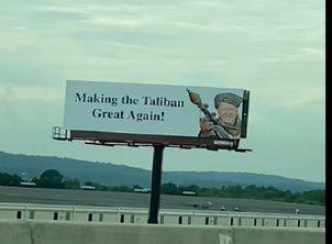 'Making Taliban Great Again': Banners with photos of Biden as militant shows up in US