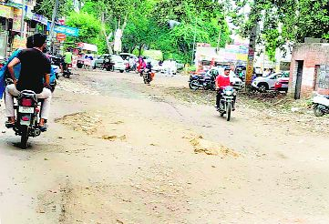 Stretch in pathetic condition in Bhiwani