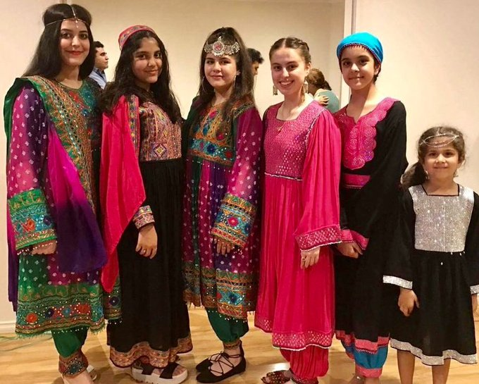 #Afghan women protest #Taliban's hijab diktat by sharing photos in colourful dresses
