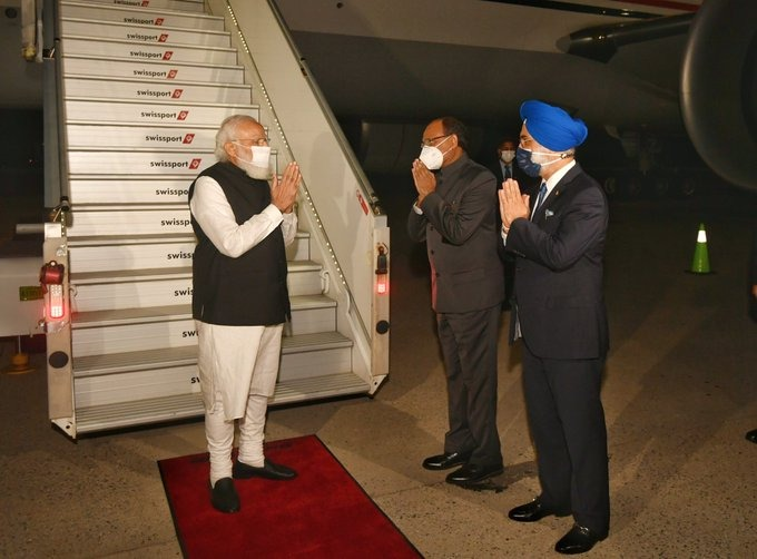 Modi reaches New York to address 76th UN General Assembly session