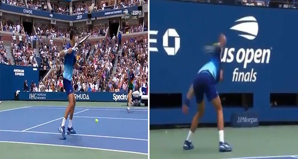 Videos: Novak Djokovic smashes racquet in frustration, almost hits a ball girl during US Open final