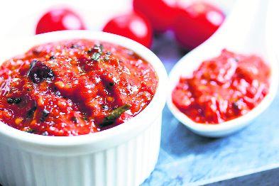 Mustard & tomato tango with tamatar sarson ki chutney