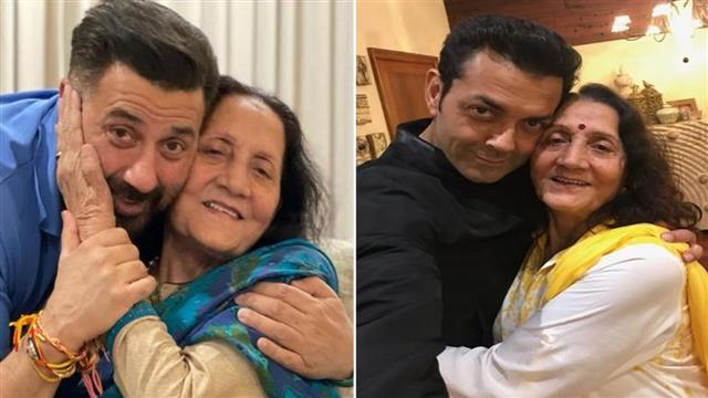 Dharmendra's wife Prakash Kaur turns a year older, Deol brothers share adorable pictures with mum on social media
