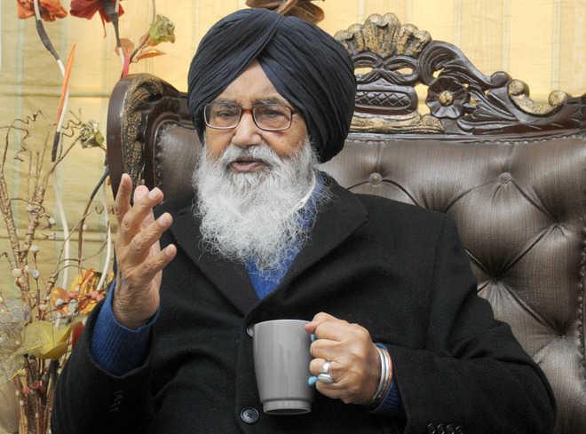 Ex-CM Parkash Singh Badal pays surprise visit to Bathinda varsity