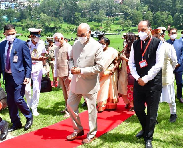 President Kovind arrives in Shimla on four-day visit to HP
