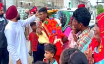 Watch: Punjab Chief Minister Channi stops vehicle on highway to bless newly-wed couple