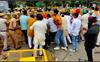 Sukhbir Badal, Harsimrat, other Akali leaders court arrest following protest outside Parliament