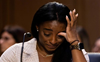Olympic gymnast Simone Biles breaks down while sharing her story of being sexually abused by doctor Larry Nassar