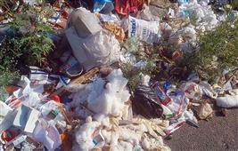 Biomedical waste dumping