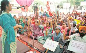Contractual employees take out march to press for regular jobs