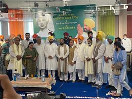 On Bhagat Singh's birth anniversary, CM Channi distributes sports kits to 30 corona volunteer clubs at Khatkar Kalan