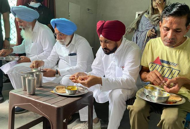 Punjab CM Channi visits labourer's house to give job letter