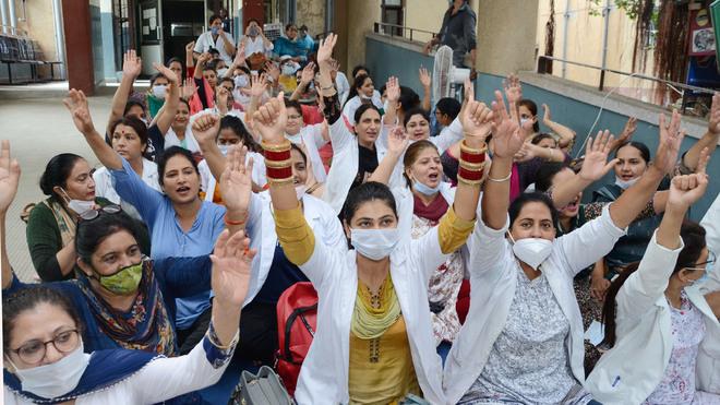 Punjab Nursing Staff strike