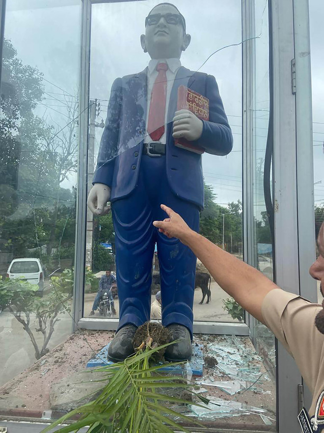 Man detained for trying to damage Ambedkar statue in Phillaur