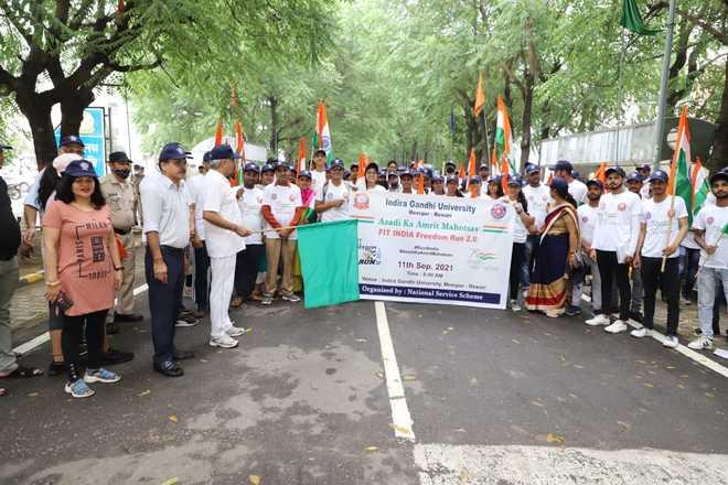 Indira Gandhi University holds 'Run for India'