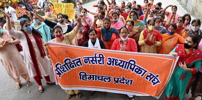 NTT union takes out rally in Mandi, seeks govt jobs