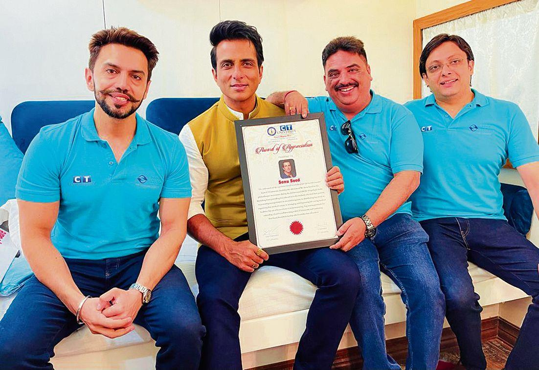 Jalandhar: CT Group ties up with Sonu Sood to help 43 needy students pursue BTech