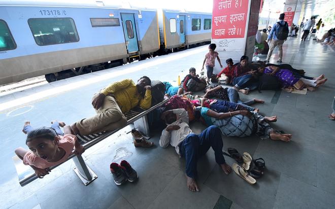 Bandh derails train services, passengers hit