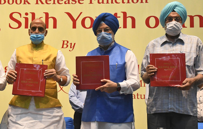 Rajnath Singh launches Dr Prabhleen Singh's book on Sikh youth