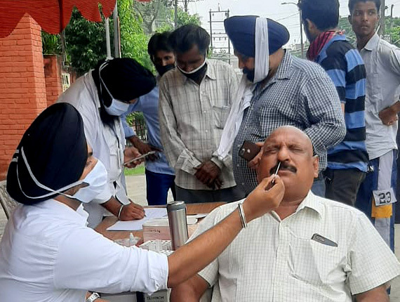 Akal Garh Market reports only 2 Covid cases in fortnight