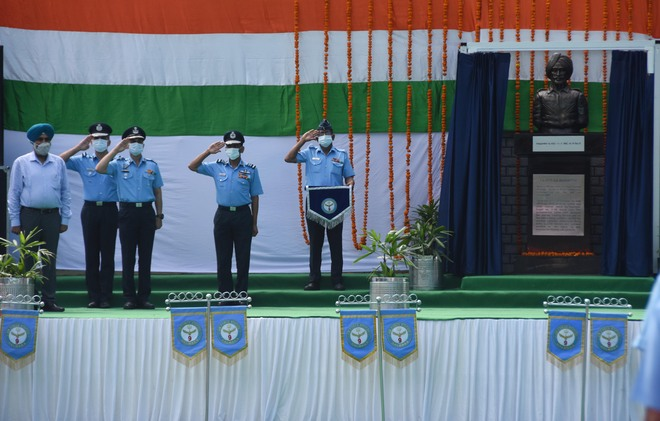 Bust of Flying Officer Nirmal Jit Singh Sekhon unveiled at school