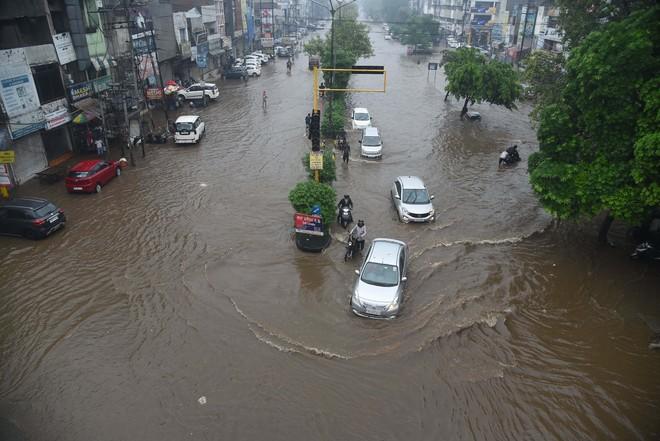 Rain floods roads, water enters slums, houses in Ludhiana