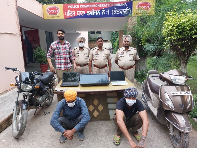 Two nabbed with stolen goods