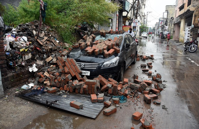 Ludhiana: 133.6-mm rainfall floods city areas