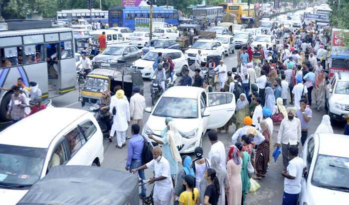 Protests, construction work stall traffic movement in Patiala