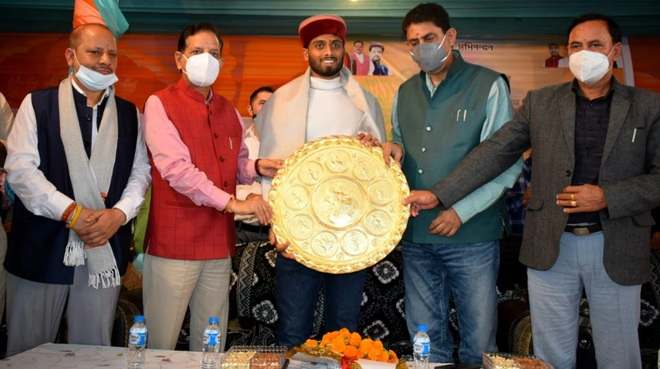Dalhousie: Olympic medallist Varun Kumar Sharma felicitated