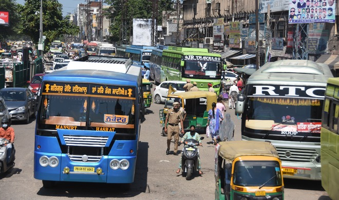 Passengers suffer as protesting staff close Ludhiana bus stand for 2 hours