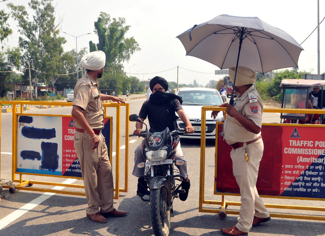 Bharat bandh: Cops on toes in Amritsar