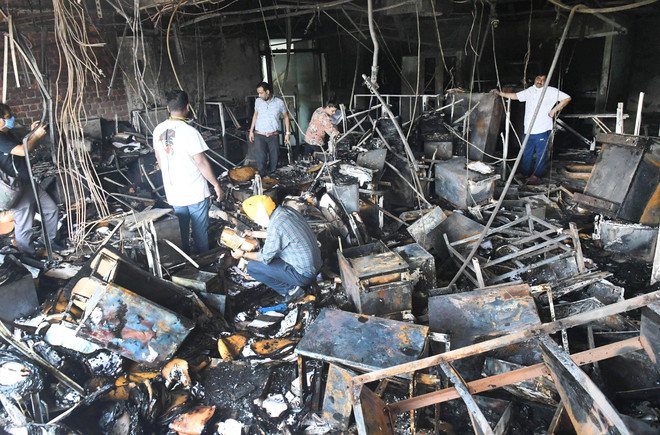 70 pc files destroyed in blaze at Punjab Planning Dept building in Chandigarh